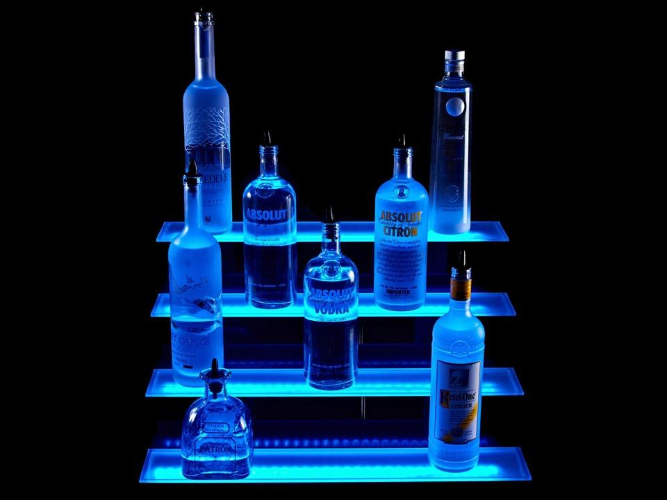 osvetlený bar