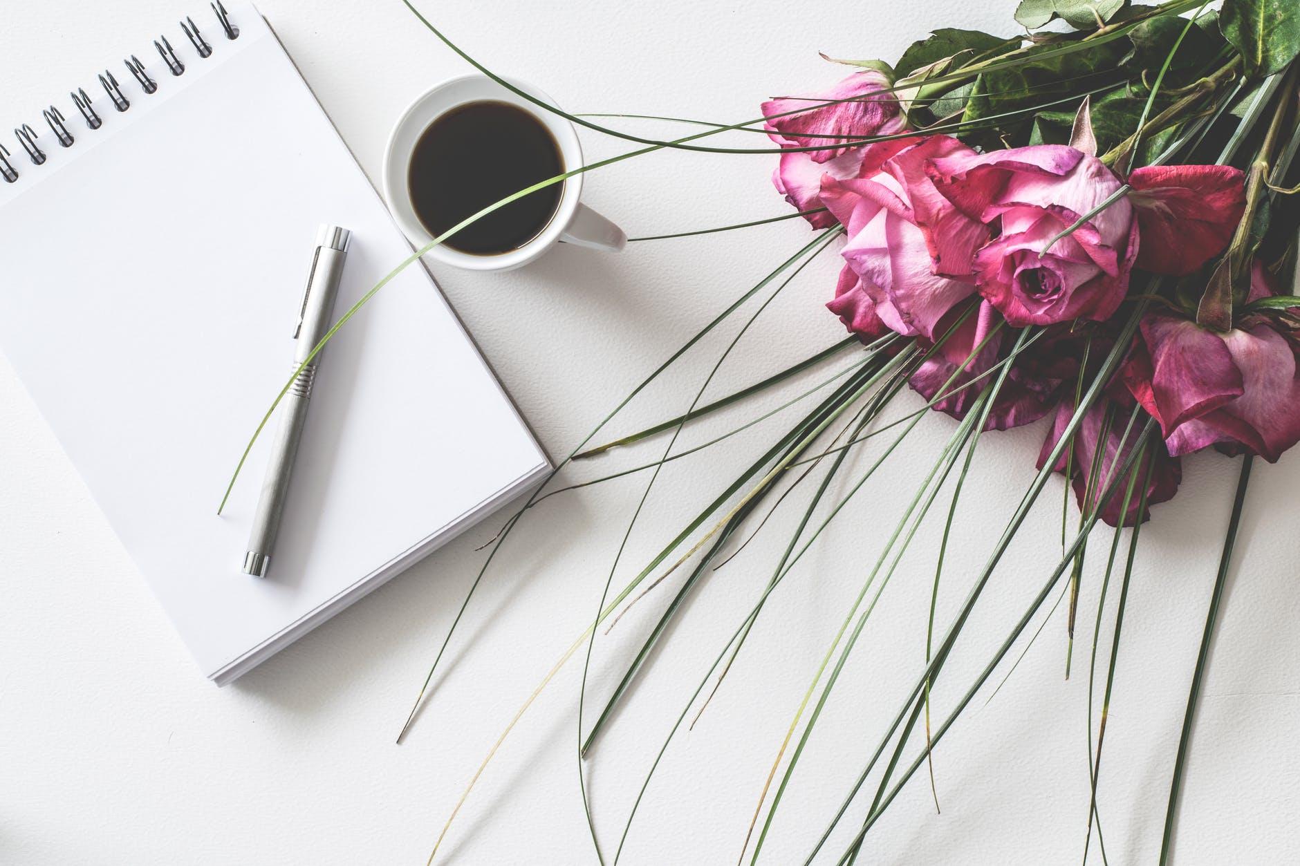 ruže, notes